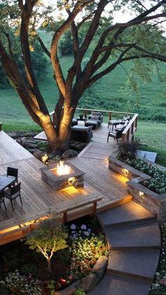 Backyard Pavilion, Backyard Patio Designs, Backyard Landscaping, Cozy Backyard, Patio Ideas, Outdoor Rooms, Outdoor Gardens, Outdoor Living, Outdoor Patios