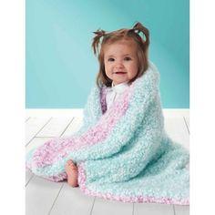 Twice the Fun Blanket pattern by Bernat Design Studio - Crochet - Baby Knits Baby Girl Crochet Blanket, Free Baby Blanket Patterns, Crochet Blanket Patterns, Baby Knitting Patterns, Crochet Baby, Loom Knitting, Crochet Stitches, Chunky Crochet, Easy Crochet