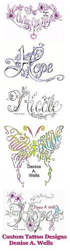 Denise A. Wells tattoo designs