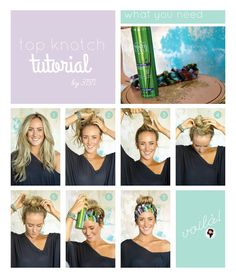 "top ""knot""ch tutorial by three bird nest"