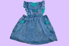 1980s Palm Beach acid wash denim dress for 2-year-old child