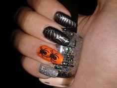 Halloween, nail stamping, OPI, Moyou London, Konad