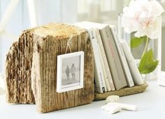 Free Decorative Driftwood Bookend  from the Beach.  #driftwood