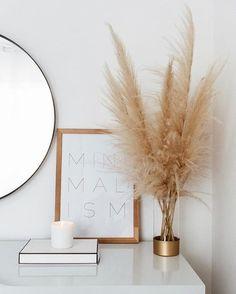 home decor minimalist pampas grass decor, minimali - Minimal Decor, Minimalist Home Decor, Minimal Style, Minimalist Wardrobe, Minimalist Living, Australian Home Decor, Australian Homes, Grass Decor, Decoration Bedroom