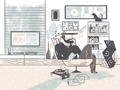 Gentleman Magazine Spain: Technology & home Illustrations by Del Hambre