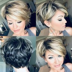 Today we have the most stylish 86 Cute Short Pixie Haircuts. We claim that you have never seen such elegant and eye-catching short hairstyles before. Pixie haircut, of course, offers a lot of options for the hair of the ladies'… Continue Reading → Cute Hairstyles For Short Hair, Curly Hair Styles, Trending Hairstyles, Short Layered Hairstyles, Hairstyle Short, 80s Hairstyles, Hairstyle Ideas, Short Womens Hairstyles, Virtual Hairstyles