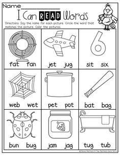 Winter Math And Literacy Packet (Kindergarten)! | Phonics