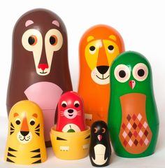 Originel nesting #dolls #animal by #Ingela P #Arrhenius from www.kidsdinge.com https://www.facebook.com/pages/kidsdingecom-Origineel-speelgoed-hebbedingen-voor-hippe-kids/160122710686387?sk=wall #kidsdinge #toys #speelgoed