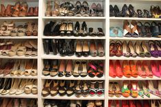 closet design ideas shoes | ... -arrangement-of-beautiful-shoes-amazing-shelving-built-in-shoe-closet