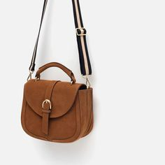 Image 4 of LEATHER MESSENGER BAG WITH BUCKLE from Zara