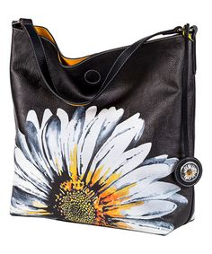 Another great find on #zulily! Yellow Daisy Reversible Hobo & Crossbody Bag #zulilyfinds
