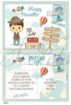 Baptism Invitations, Postcard Design, Travel Bag, Toys, Happy, Cards, Activity Toys, Clearance Toys, Ser Feliz