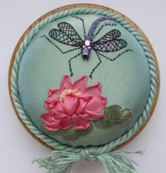 Silk ribbon waterlily!