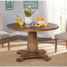 Simple Living Atwood Pedestal Table | Overstock.com Shopping - The Best Deals on Dining Tables
