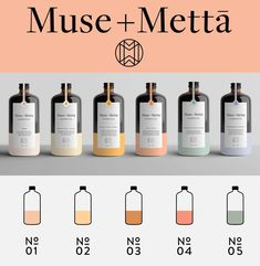 Packaging Design Muse + Metta|The concept behind the work goes something like this: The color of eac Honey Packaging, Cool Packaging, Beverage Packaging, Bottle Packaging, Brand Packaging, Packaging Ideas, Skincare Packaging, Beauty Packaging, Cosmetic Packaging