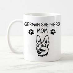 German Shepherd mom mug, dog mug, german shepherd mug gift, dog owner gift, gift for her, best dog mom, funny dog mug, alsatian dog mug