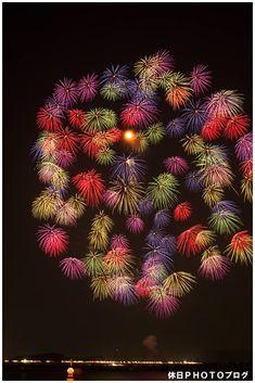 Beautiful Colourful Fireworks Display