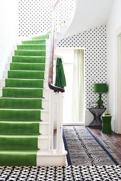 Green Stairs and Polka Dots