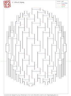 "DIY Template - ""Obloid Zigzag"" Kirigami Pop-up paper sculpture Kirigami Templates, Origami And Kirigami, Paper Crafts Origami, Kirigami Tutorial, Box Templates, Libros Pop-up, Paper Pop, Paper Engineering, Paper Folding"