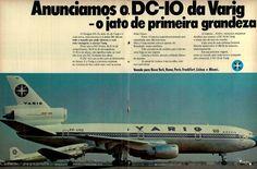 Varig DC-10 #Brasil #anos70 #retro #vintageads #anunciosantigos #BrasilRetro