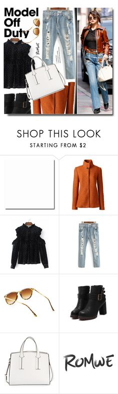 """Model Off Duty"" by soks ❤ liked on Polyvore featuring Lands' End and French Connection"