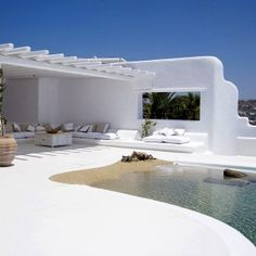 If I had a villa in Greece, this would be my pool patio.