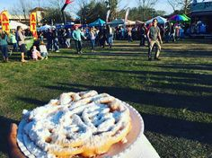 Instant happiness   #seafood #festival #StAugustine #funnelcake #fairfood #sweets #indulge #fatty by enshera_badu
