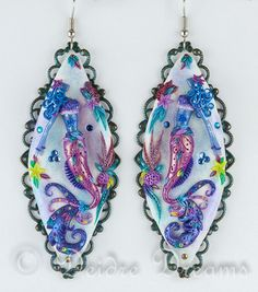 Mermaid Earrings Siren Earrings Mermaid Art by DeidreDreams