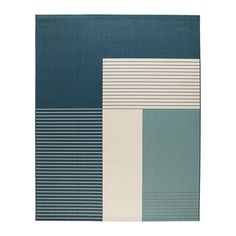 IKEA ROSKILDE Rug, flatwoven In/outdoor green-blue 200 x 250 cm Ideal in your living room or under your dining table since the flat-woven surface makes it easy to pull out the chairs and vacuum. Living Room Rugs Ikea, Rugs In Living Room, Bedroom Rugs, At Home Furniture Store, Modern Home Furniture, Design Ikea, Lohals, Casa Milano, Ikea Shopping