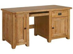 Bordeaux Rustic Oak Single Computer Desk £419.99