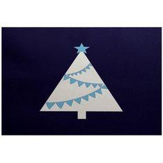 Simply Daisy 2' x 3' Garland Tree Geometric Print Indoor Rug, Blue