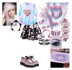 """Pastel Goth"" by chloetommo123 ❤ liked on Polyvore featuring Bridge Jewelry, With Love From CA, T.U.K., women's clothing, women's fashion, women, female, woman, misses and juniors"