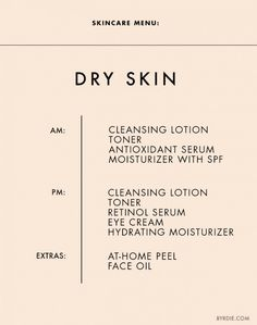 Skincare tips for dry skin. // #Skincare #Tips