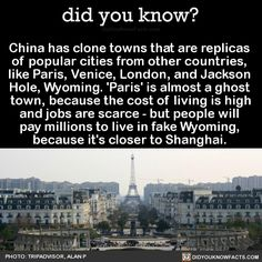 Ten Incomprehensible Things That Only Happen In China China - Tianducheng a ghostly abandoned clone of paris in the middle of china