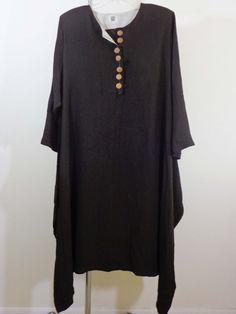 Kedem Sasson dress lagenlook artsy art to wear brown monk imperial designer OS #KedemSasson #Maxi #Cocktail
