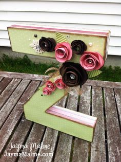 Z is for Zoe ....Shabby Chic Flowery CustomDesigned 3D Letter Decor by JaymaMalme,