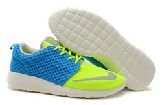 watch 26c1f 6a203 Nike Roshe Run FB Yeezy Women s Shoes Blue Yellow Cheap Nike Roshe, Nike  Roshe Run