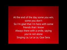 Que Sera Justice Crew Lyrics - song about friendship and resilence etc