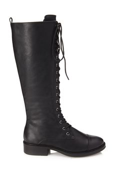 Tall Lace-Up Boots | FOREVER21 - 2000085210