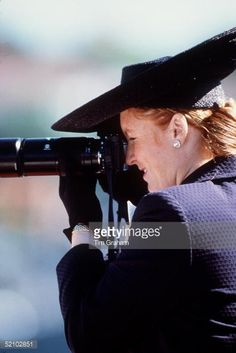 News Photo : The Duchess Of York Taking A Picture With Her...