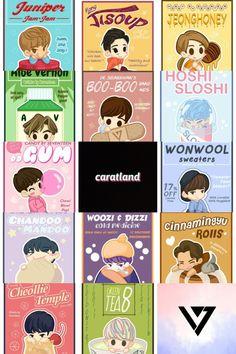 My Korean cuties Seventeen Memes, Seventeen Wonwoo, Seventeen Members Names, Kpop Logos, Sweet Drawings, Cartoon Fan, Kpop Drawings, Seventeen Wallpapers, Meanie