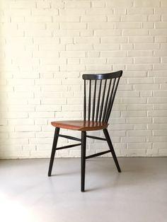 Vintage Stuhl, Fanett Stuhl, Mid Century Küchenstuhl, Sprossenstuhl Alt,  Ilmar Tapiovaara Stil