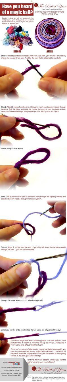 So kann man aus Resten ein neues Knäuel Wolle zum Stricken oder Häkeln machen
