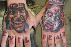 Amazing Evil Dead tattoo. Gimme some sugar!