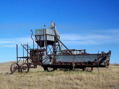 Very old North Dakota combine - photo by im pastor rick