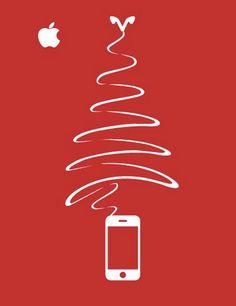 Apple : publicité Sapin de Noël