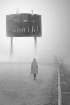 ♂ Black and white photography - welcome to silent hill - solitude - walk alone in the mist