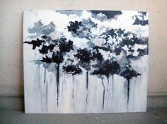 Your Forest Is Melting -painting by Piia Myller Silver Pen, White Acrylic Paint, Paintings, Black And White, Design, Decor, Art, Art Background, Decoration