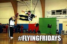 Want to fly like a ninja? Come join us today for #FlyingFriday! We try out our favorite flying kicks and we're always up to learn new ones. Everyday in training always pays off! #hapkido #ninja #martialarts #karate #friday #ninjakick
