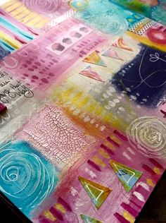 There is something very playful about creating an art journal patchwork, you could get lost in this sort of art journaling for hours! T...